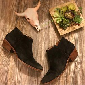 {sam edelman} black suede 'petty' ankle boots 7.5
